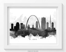 st louis missouri skyline poster st louis cityscape st louis art st louis