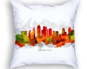 Kansas City Pillow, 18x18, Kansas City Skyline, Kansas City Cityscape, Kansas City Decor, Cushion Home Decor, Gift Idea, Pillow Case 15