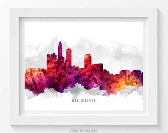 Des Moines Iowa Skyline Poster, Des Moines Cityscape, Des Moines Art, Des Moines Decor, Home Decor, Gift Idea 14