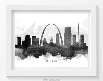 st louis missouri skyline poster st louis cityscape st louis art st louis decor st louis print home decor gift idea 11 - Home Decor St Louis Mo