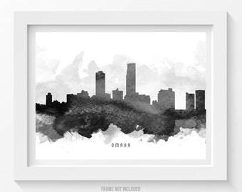 Omaha Nebraska Skyline Poster, Omaha Cityscape, Omaha  Art, Omaha Print, Omaha Decor, Home Decor, Gift Idea, USNEOM11P