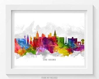Las Vegas Nevada Skyline Poster, Las Vegas Cityscape, Las Vegas Art, Las Vegas Print,  Home Decor, Gift Idea 13