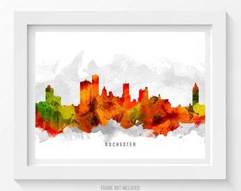 Rochester New York Skyline Poster, Rochester Print, Rochester Decor, Rochester Art, Rochester  Cityscape, Home Decor, Gift Idea, USNYRO15P