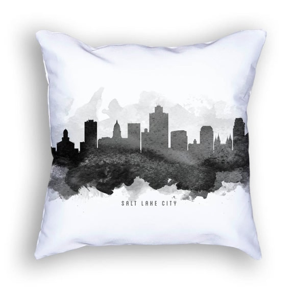 Salt Lake City Utah Pillow Salt Lake City Cityscape Salt