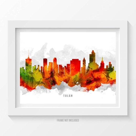 Tulsa oklahoma skyline tulsa cityscape tulsa print tulsa for Home decor tulsa