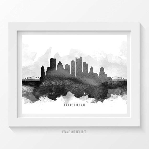 Home Decor Pittsburgh Pa: Pittsburgh Pennsylvania Skyline Poster Pittsburgh Cityscape