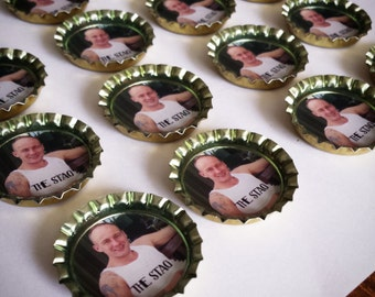 Stag do, bottlecap magnet, memories, magnets, Personalised design, completely bespoke! **1 free with every 10 ordered**