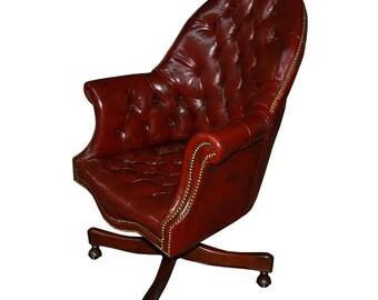 31.4441 Antique English Swivel Chair c. 1920