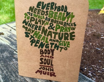 John Muir Tree Notebook