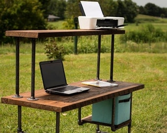 Reclaimed Wood Desk, Computer Desk, Home Office Desk, Barn Wood Desk, Shabby Chic, Reclaim Wood Table
