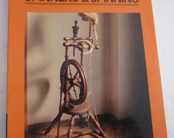 1982 SPINNING WHEELS Spinners & Spinning Patricia Baines Craft Sheep Breeds Flyer Spindle Wheel Vintage Craft Book