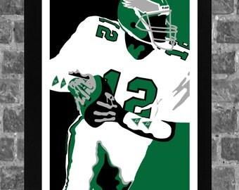 Philadelphia Eagles Randall Cunningham Portrait Sports Print Art 11x17