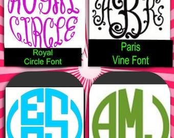 Monogram Sticker Vinyl Decal Personalized Monogrammed Initials