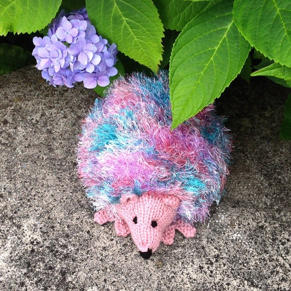 Items similar to HEDGEHOG DOORSTOP, Hand-knitted on Etsy