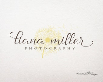 Dandelion logo, Premade logo design, Photoraphy logo, Sophisticated logo, Watermark 205