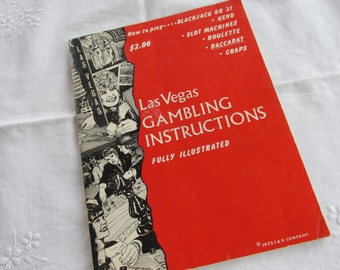 Gambling Instructions Booklet - Las Vegas - Vintage