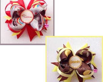 Rainbows Or Brownies Inspired Hair Bow Clip
