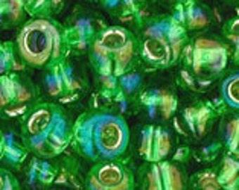 Silver Lined Rainbow Peridot 2027 Toho Seed Bead 6/0
