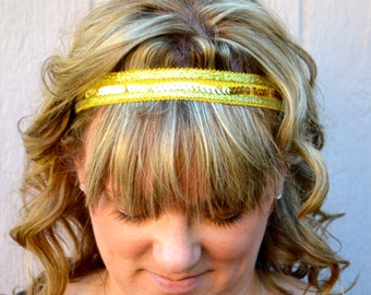 Gold Trim with Silver Sequin Headband