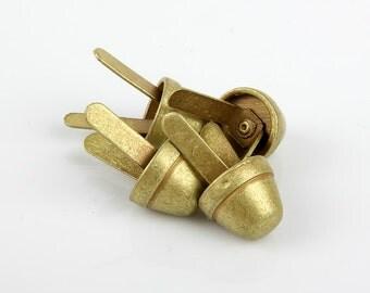 Round Spots for Bag bottom ver.3 (4ea 1set), Brass / Antique Color,Bag Making Suppliers Leather craft tools MLT-P00000MM