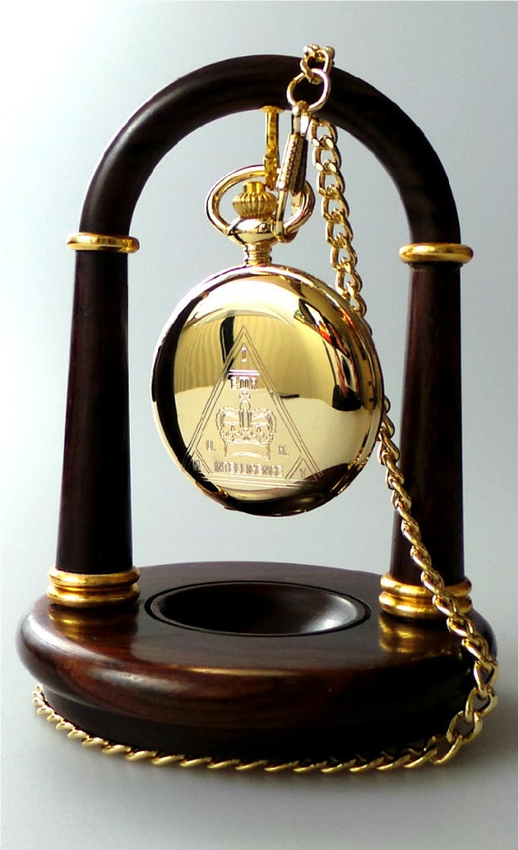 Wooden Pocket Watch Display Stand Holder By Britishgoldcompany