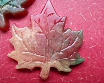 10 maple Leaf soap favors - Fall wedding favors, fall shower favors, fall party favors, fall baby shower favors, fall favors, leaf favors