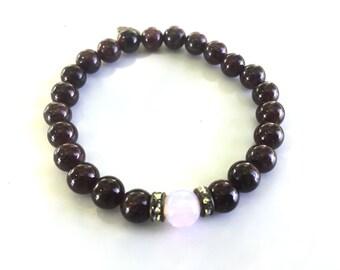 Garnet Opal Magic Gemstone Bracelet
