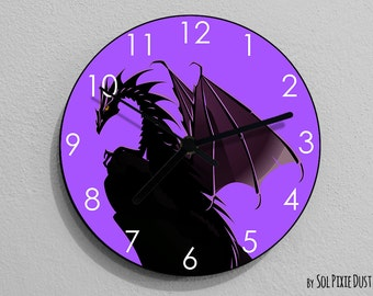 Dragon Wall Clock - Kids Nursery Room, Teens Room, Baby Room  - Wall Clock