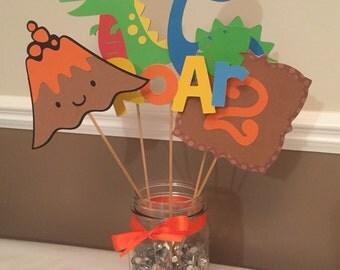Dinosaur birthday centerpiece, dino party!!