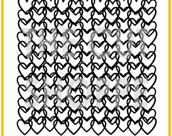 The Queen of Hearts background cut file is available in 8.5x11 and 12x12 sizes, for your scrapbooking and papercrafting.