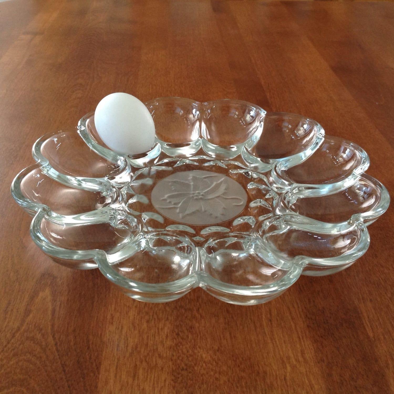 Princess House FANTASIA Deviled Egg Serving Plate 2