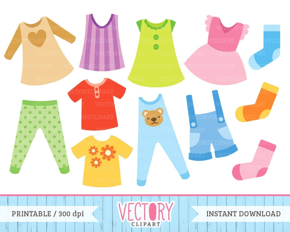 12 Clothes Clip Art Kids Clothes Clipart Children's