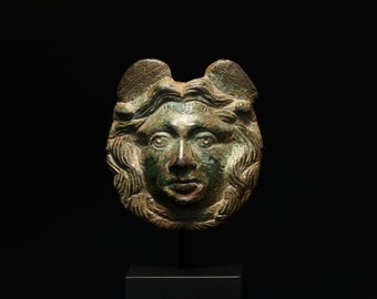 Ancient Roman Bronze Medusa Appliqué