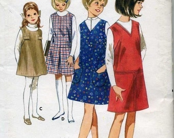 Girls Quick and Easy Jumper Sewing Pattern, Butterick 4072  - Size  14 - Uncut