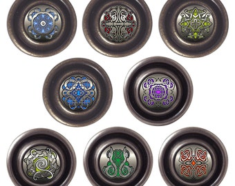Celtic Designs Decorated Brass Or Pewter 32mm Drawer Cupboard Cabinet Knobs