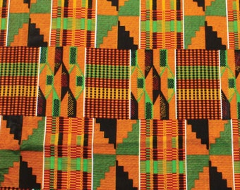 African Kente Print - Serengeti Fabric - by the yard