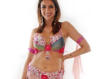 Stunning Lotus Flower Belly Dancer Costume