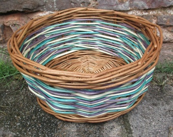 UNIQUE HAND MADE Willow Basket , coloured willow basket, medium basket, storage basket, wicker contemporary design