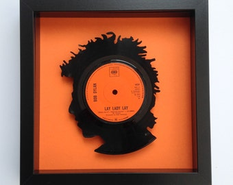 Bob Dylan 'Lay Lady Lay' Silhouette Vinyl Record Art