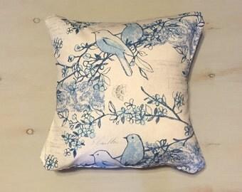 Bird Pillow Sham, Decorative Pillow Sham, Envelope Pillow Sham, 18x18 Pillow Sham