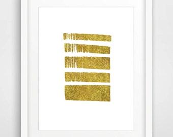 Gold Print, Gold Foil Print, Abstract Wall Art, Modern Art Print Printable Nursery Print Wall Art Home Decor 8x10 Art Print Instant Download