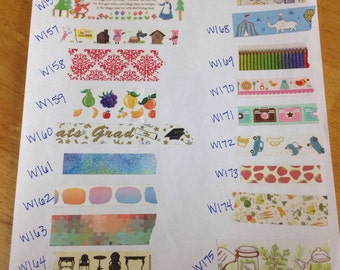 Even More Washi Tape Samples!