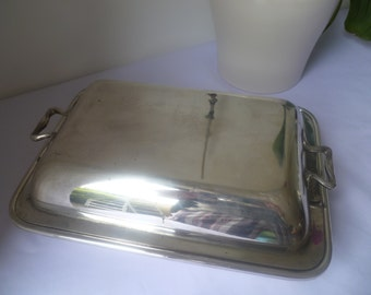 Silver Plated rectangular serving dish