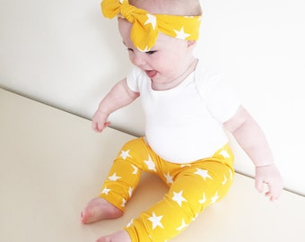 Yellow star print Child & Baby Leggings
