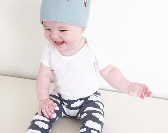 Grey Cloud print Child & Baby Leggings