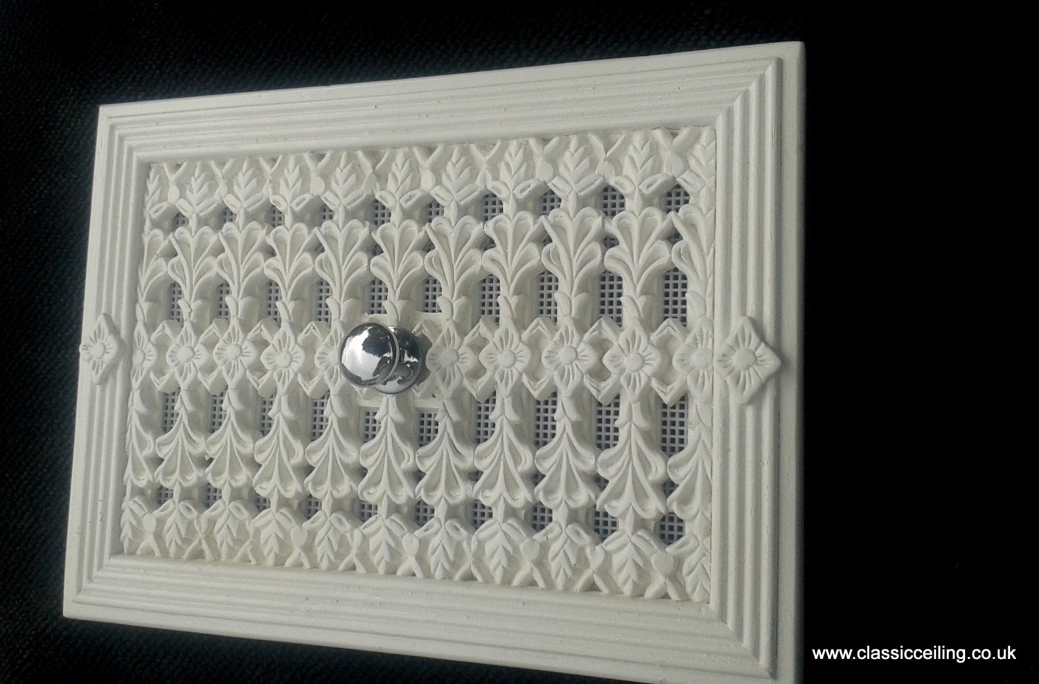 12x 8 victorian air vent cover hit miss open. Black Bedroom Furniture Sets. Home Design Ideas