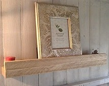 Reclaimed Pine Floating Picture Ledge Shelves - English Oak Wax - ** FREE UK DELIVERY **