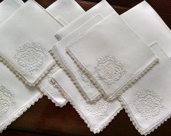 12 early 20th century napkins