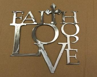 Faith Hope Love inspirational wall decor