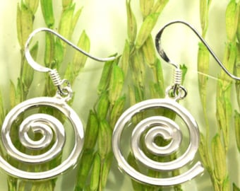 Spiral earrings 925 sterling silver  --  6187